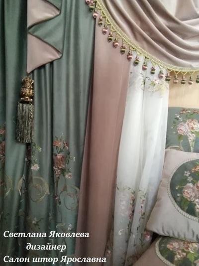 Элитные шторы Итальянский стиль. Элитные тани для штор. - main